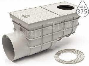 Lapač střešních splavenin KV standard boční šedý