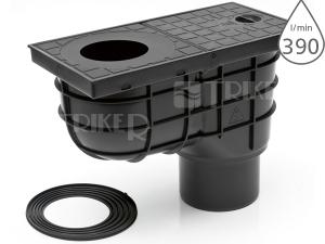 Lapač střešních splavenin KV standard spodní černý