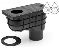 Lapač střešních splavenin KV standard spodní černý 110mm, KV110ST, Chuděj