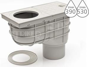 Lapač střešních splavenin KV standard spodní šedý