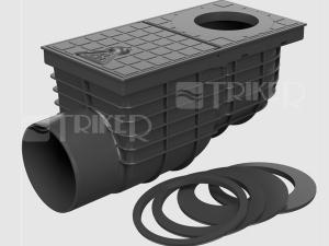 Lapač střešních splavenin KV univerzální boční, černý 110 mm