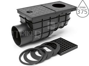 Lapač střešních splavenin KV univerzální boční černý