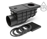 Lapač střešních splavenin KV univerzální boční černý 110mm, KV 110B, Chuděj