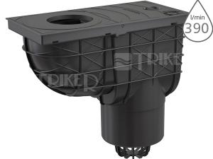 Lapač střešních splavenin AGV2 spodní černý