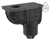 Lapač střešních splavenin spodní AGV2 černý 125 mm, AGV2, Alca plast