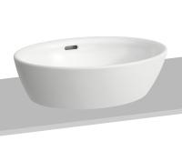 Laufen Pro A umyvadlová mísa 52 x 39cm broušená bez otvoru bílá, H8129640001091, Laufen