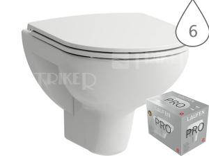 Laufen Pro klozet závěsný 49 cm COMPACT bílý, WC PACK se sedátkem SLIM Slowclose