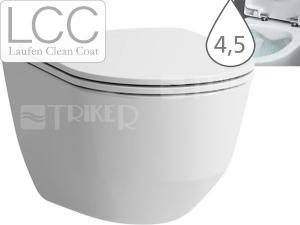 Laufen Pro klozet závěsný 49 cm Compact RIMLESS bez oplachovacího kruhu bílý+LCC