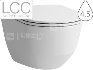 Laufen Pro klozet závěsný 53 cm kapotovaný, hluboké splachování bílý+LCC