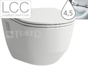 Laufen Pro klozet závěsný 53 cm RIMLESS bez splachovacího kruhu/viditelné uchycení bílý/LCC