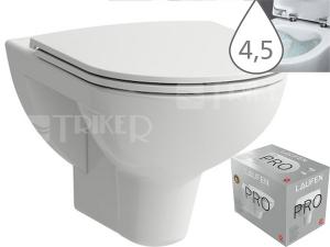 Laufen Pro klozet závěsný 53 cm RIMLESS bílý, WC PACK se sedátkem SLIM Slowclose