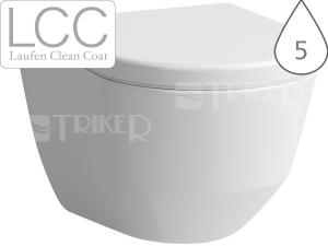 Laufen Pro klozet závěsný 53cm kapotovaný, ploché splachování bílý+LCC