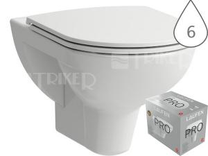 Laufen Pro klozet závěsný 56 cm bílý, WC PACK se sedátkem SLIM Slowclose