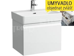 Laufen Pro S skříňka s 1+1 zásuvkou pod umyvadlo 55 x 38 cm bílá/lesk