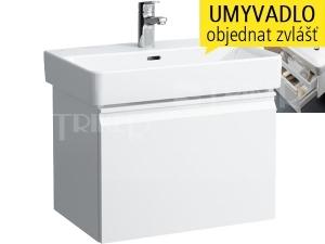 Laufen Pro S skříňka s 1+1 zásuvkou pod umyvadlo 60 x 38 cm bílá/lesk