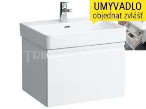 Laufen Pro S skříňka s 1+1 zásuvkou pod umyvadlo 60 x 46,5 cm bílá/lesk