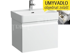 Laufen pro S skříňka s 1 zásuvkou pod umyvadlo 55 x 38 cm bílá/lesk