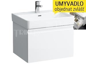 Laufen Pro S skříňka s 1 zásuvkou pod umyvadlo 60 x 46,5 cm bílá/lesk
