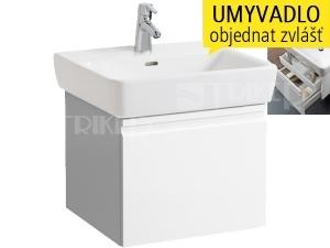Laufen Pro skříňka s 1+1 zásuvkou pod umyvadlo 55 x 48cm bílá