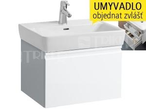 Laufen Pro skříňka s 1+1 zásuvkou pod umyvadlo 65 x 48cm bílá