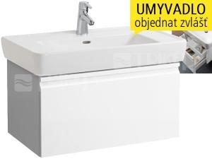 Laufen Pro skříňka s 1+1 zásuvkou pod umyvadlo 85 x 48 cm bílá