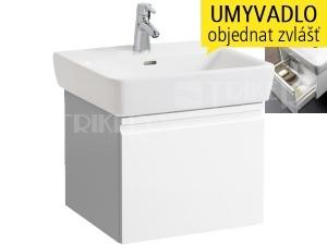 Laufen Pro skříňka s 1 zásuvkou pod umyvadlo 55 x 48cm bílá
