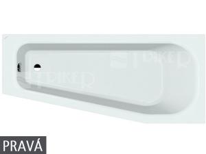 Laufen Solutions vana akrylátová vestavná 170 x 75 cm pravá bílá