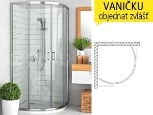 LLR2 sprchový kout sposuvnými dveřmi LLR2/900 R550 (880-895mm) profil:brillant, výplň:transparent