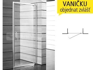 Lyra plus sprchové dveře pivotové 90 cm (860-900 mm) profil:bílý, výplň:transparent/PERLA