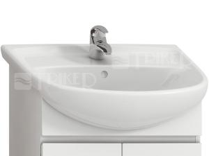 Lyra plus umyvadlo nábytkové 55 x 45 cm s otvorem pro baterii, bílé