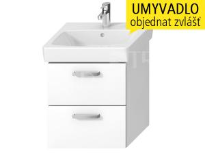 Lyra plus VIVA skříňka s2 zásuvkami pod umyvadlo 55 x 45 cm,bílá