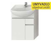 Lyra skříňka se 2 dveřmi + 1 zásuvkou pro umyvadlo 60 cm bílá, H4531220383001, Jika