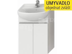 Lyra skříňka se 2 dveřmi pro umyvadlo 55 cm bílá