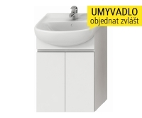 Lyra skříňka se 2 dveřmi pro umyvadlo 55 cm bílá, H4531110383001, Jika