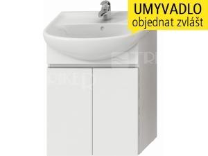 Lyra skříňka se 2 dveřmi pro umyvadlo 60 cm bílá