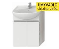Lyra skříňka se 2 dveřmi pro umyvadlo 60 cm bílá, H4531210383001, Jika