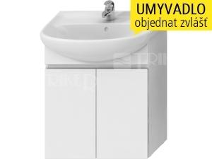 Lyra skříňka se 2 dveřmi pro umyvadlo 65 cm bílá