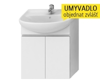 Lyra skříňka se 2 dveřmi pro umyvadlo 65 cm bílá, H4531310383001, Jika
