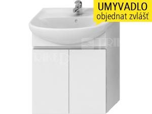 Lyra skříňka se 2 dveřmi pro umyvadlo 65 x 48 cm bílá