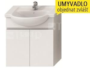 Lyra skříňka se 2 dveřmi pro umyvadlo 70 cm bílá