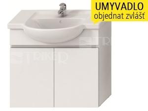 Lyra skříňka se 2 dveřmi pro umyvadlo 80 cm bílá