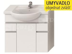 Lyra skříňka se 3 dveřmi + 2 zásuvkami pro umyvadlo 80 cm bílá