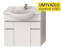 Lyra skříňka se 3 dveřmi + 2 zásuvkami pro umyvadlo 80 cm bílá, H4531520383001, Jika