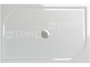 Marblemate vanička z litého mramoru WMA se středovým odtokem 80 x 160 cm, bílá