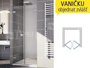 ME2 Sprchové dveře do 1000/2000 profil:chrom,výplň:čiré