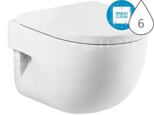 Meridian klozet závěsný 48 cm Compact hluboké splachování bílý+MaxiClean