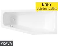 Mini vana akrylátová 160 x 70/50 cm, pravá, bílá, N-8000074, Roltechnik