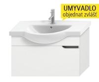 Mio skříňka pod umyvadlo 85 cm bílá/bílá, H4341411715001, Jika
