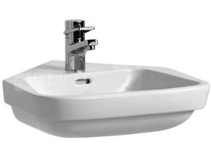 Moderna plus umyvadlo rohové 50 x 53 cm s otvorem bílé