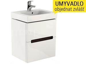 Modo skříňka se 2 zásuvkami pod umyvadlo 50 cm, lesklá bílá